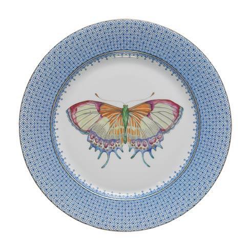 Mottahedeh Lace Cornflower Dessert Plate W/Butterfly $70.00