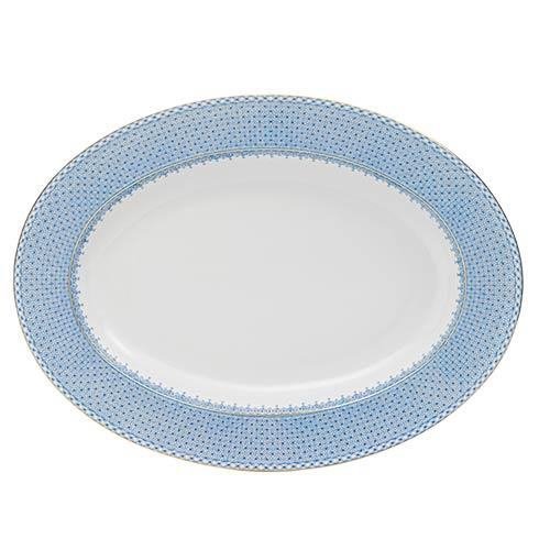Mottahedeh Lace Cornflower Oval Platter $220.00