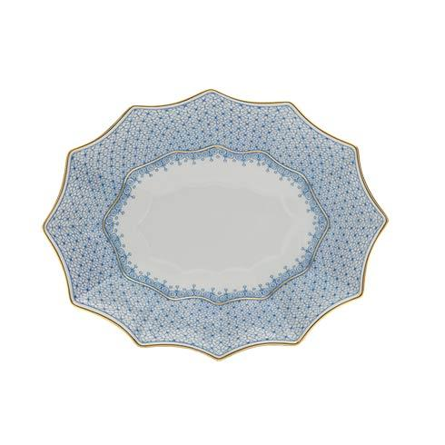 Mottahedeh Lace Cornflower Medium 12 Sided Tray $125.00