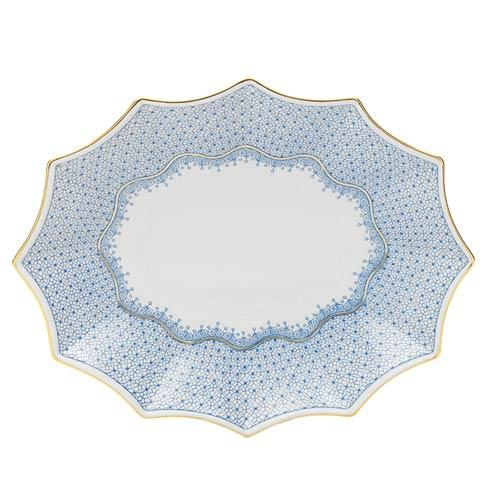 Mottahedeh Lace Cornflower Large 12 Sided  Tray $185.00