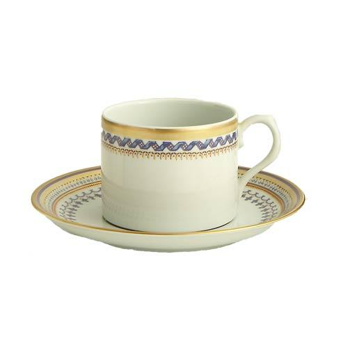 Mottahedeh  Chinoise Blue Can Tea Cup & Saucer $145.00