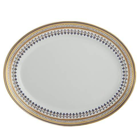 Mottahedeh  Chinoise Blue 14' Oval Platter $435.00