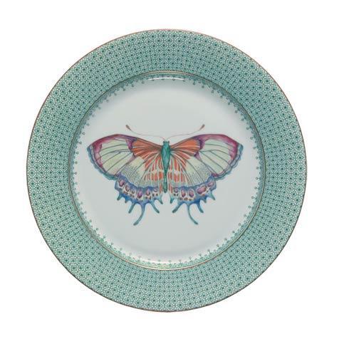 Mottahedeh Lace Green Dessert Plate W/ Butterfly $70.00