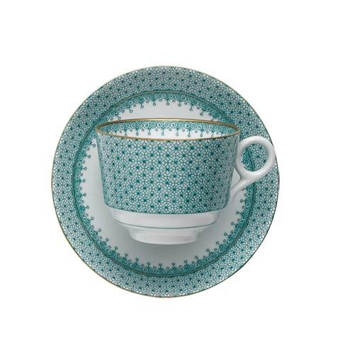 Mottahedeh Lace Green Tea Cup & Saucer $90.00
