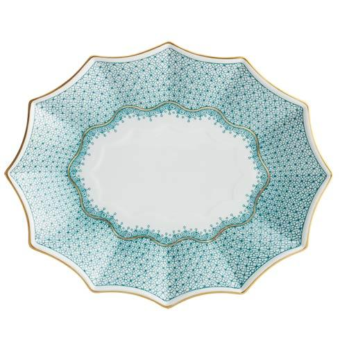 Mottahedeh Lace Green Large 12 Sided Tray $185.00