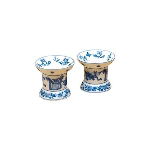 $90.00 Blue & White Salt & Pepper Set