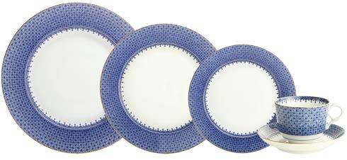 $355.00 Blue Lace 5Pc Place Setting