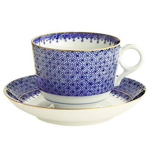 Mottahedeh Lace Blue Tea Cup & Saucer $130.00