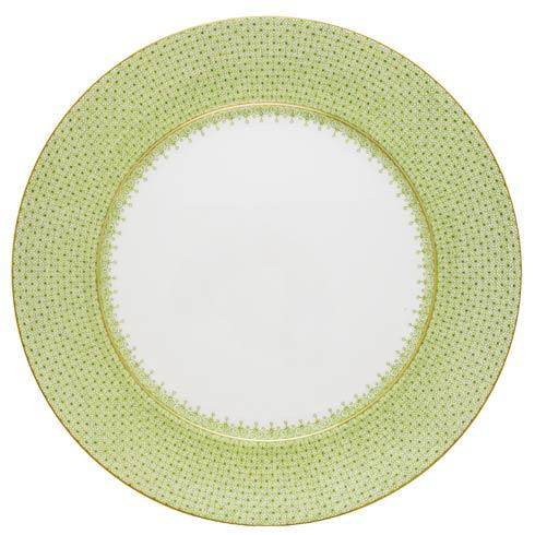 $135.00 Apple Green Lace Service Plate
