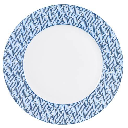 Mottahedeh  Blue & White Labyrinth Service Plate  Blue $135.00
