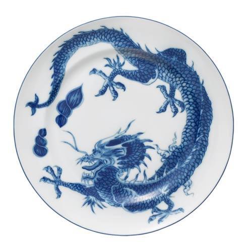 Mottahedeh Dragon Blue Dragon Dinner Plate $60.00