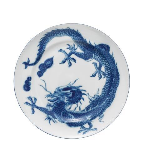 Mottahedeh Dragon Blue Dragon Dessert Plate With Center $45.00