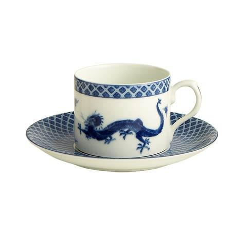 Mottahedeh Dragon Blue Dragon Can Cup & Saucer $65.00