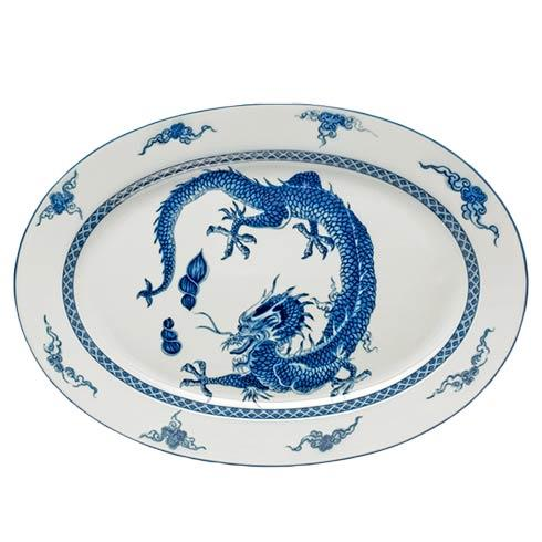 Mottahedeh Dragon Blue Dragon Oval Platter $195.00