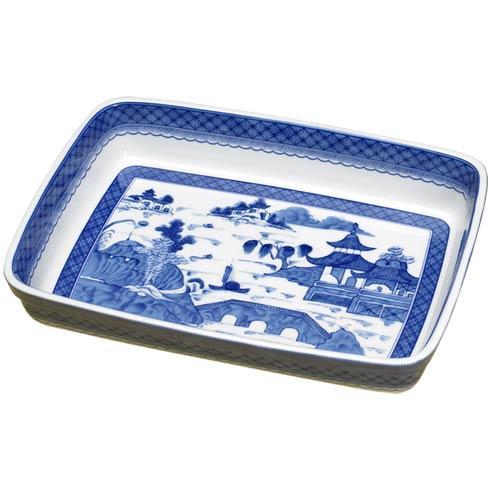Mottahedeh  Blue Canton Rectangular Baker $100.00