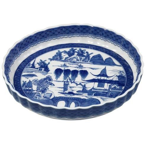 Mottahedeh  Blue Canton Quiche Dish $100.00
