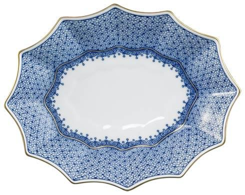 Mottahedeh Lace Blue Fluted Tray, Medium $120.00