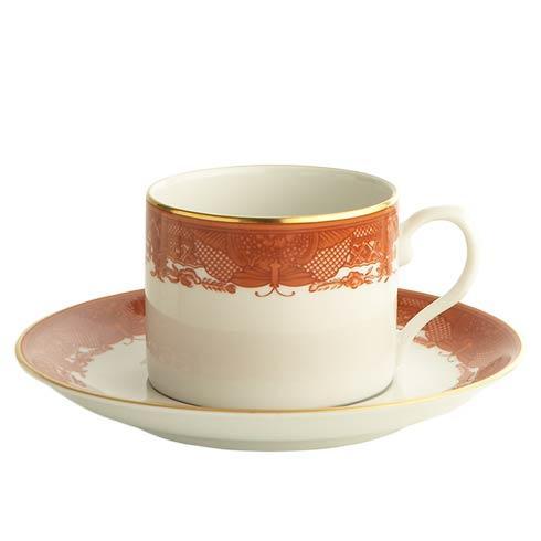 Mottahedeh  Fitzhugh Cinnabar Tea Cup & Saucer $50.00