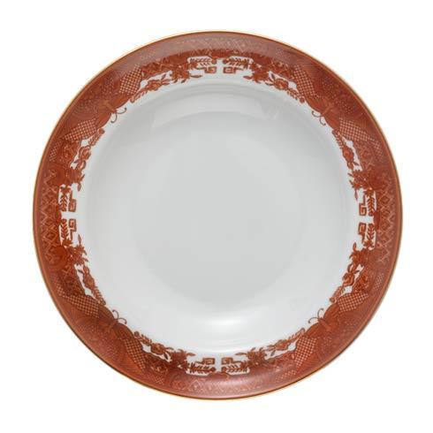 $50.00 Cinnabar Rim Soup Plate