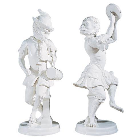 $950.00 Dancing White Monkeys, Pair