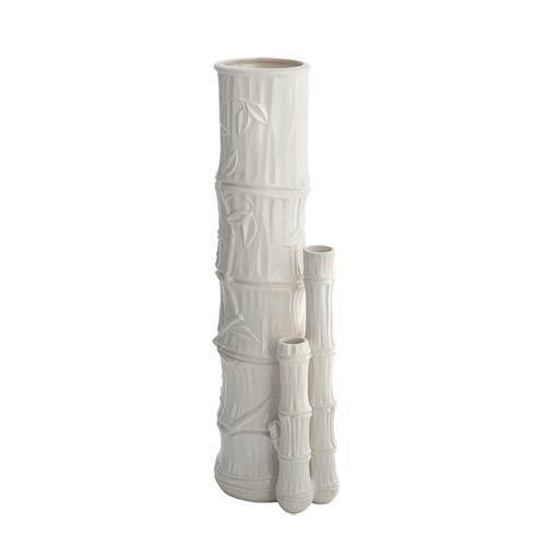 $235.00 Bamboo Vase Creamware Triple
