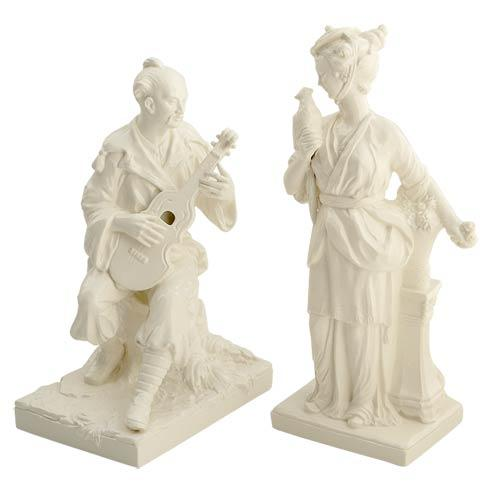 Man & Woman Figurines, Pair