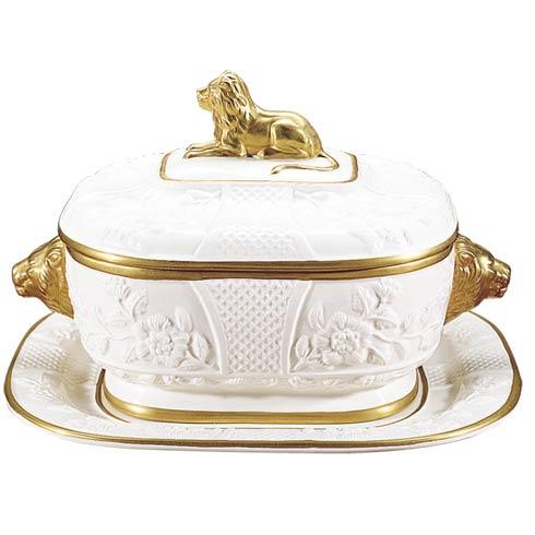 $855.00 Lion Tureen And Stand
