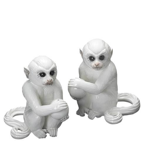 $165.00 Monkey Bookends, Pair