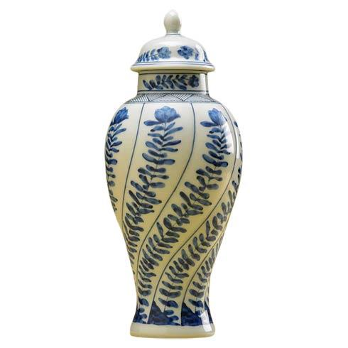 Mottahedeh  Blue Canton Vung Tao Miniature Covered Vase $55.00