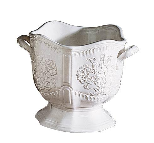 Mottahedeh  Creamware Round Embossed Cachepot $125.00