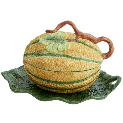 $550.00 Melon Tureen And Stand. Large