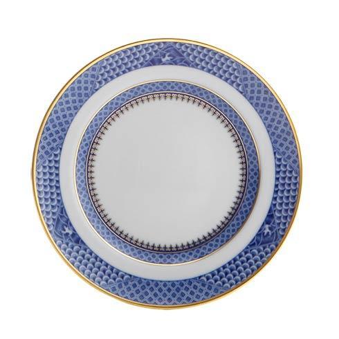 Mottahedeh  Indigo Wave Dessert Plate $85.00