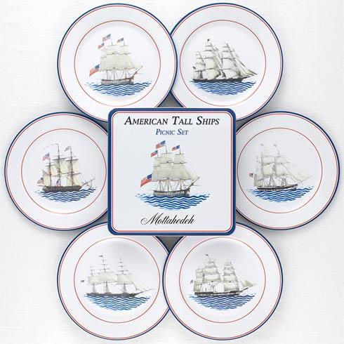 $70.00 American Ships Picnic S/6-Tin