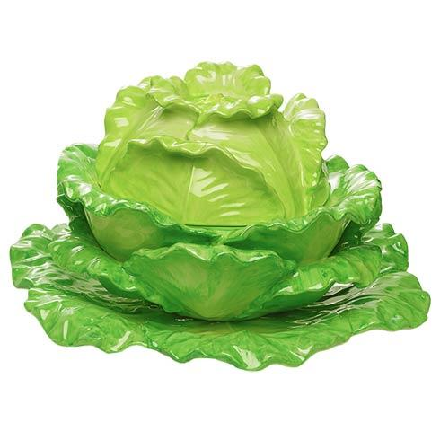 $660.00 Lettuce Tureen And Stand, Large