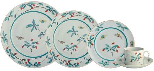 $240.00 Famille Verte 5 Piece Place Setting