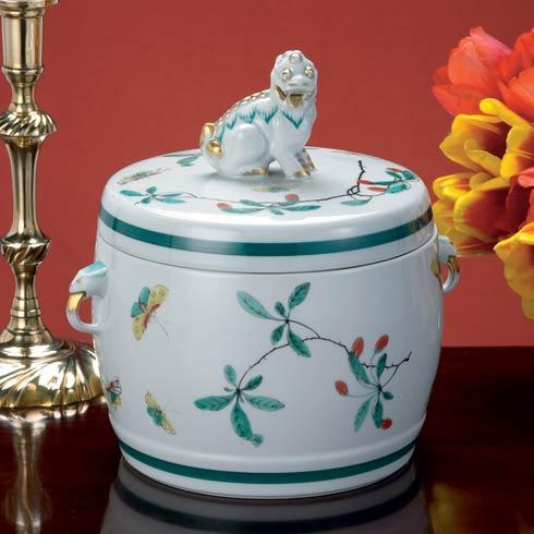 $560.00 Famille Verte Fu Dog Jar, Large