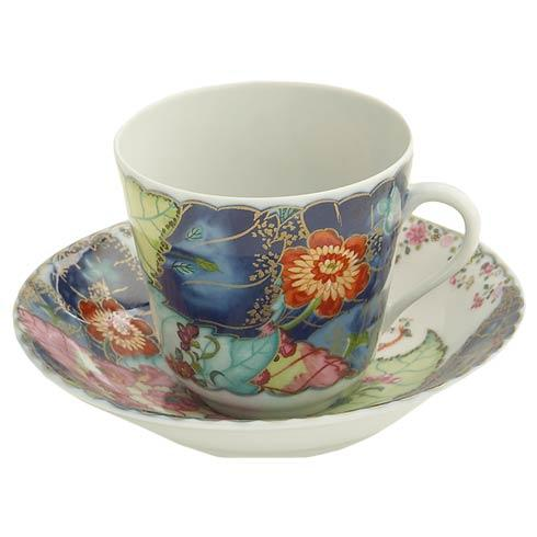 Mottahedeh  Tobacco Leaf Tea Cup And Saucer $160.00