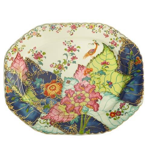 Mottahedeh  Tobacco Leaf Octagonal Platter 15' $515.00