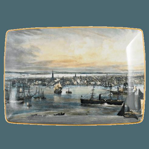 $80.00 New York Harbor Rectangular Tray, Large