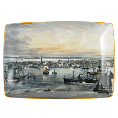 $80.00 New York Harbor Rectangular Tray, Large