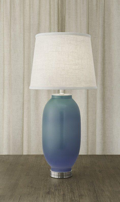 $1,075.00 Vase Lamp Verdigris & Blue