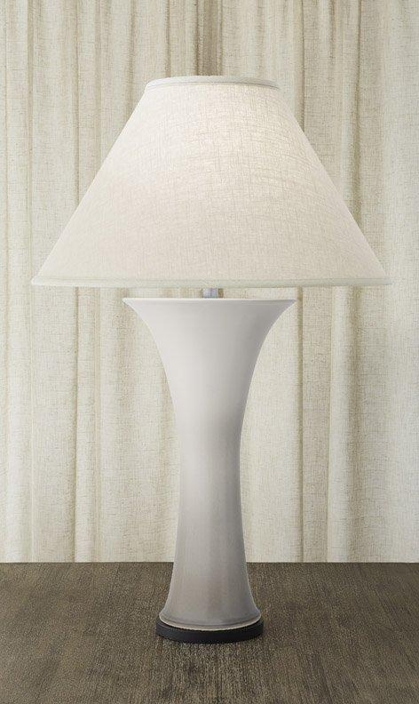 $1,100.00 Callalily Lamp White & Gray