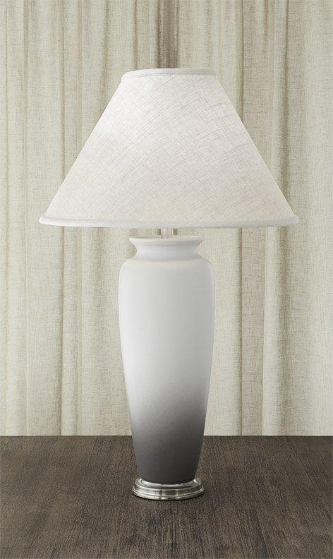 $1,100.00 Vase Lamp White & Gray