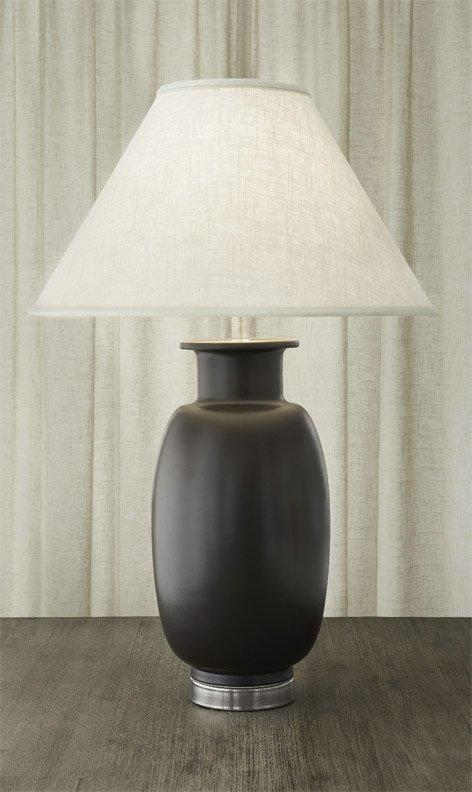 $1,100.00 Vase Lamp Red & Black