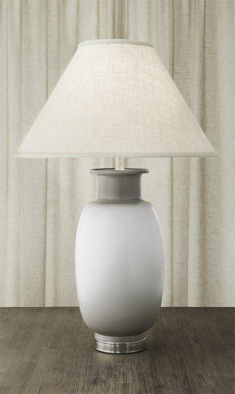 Vase Lamp White & Gray