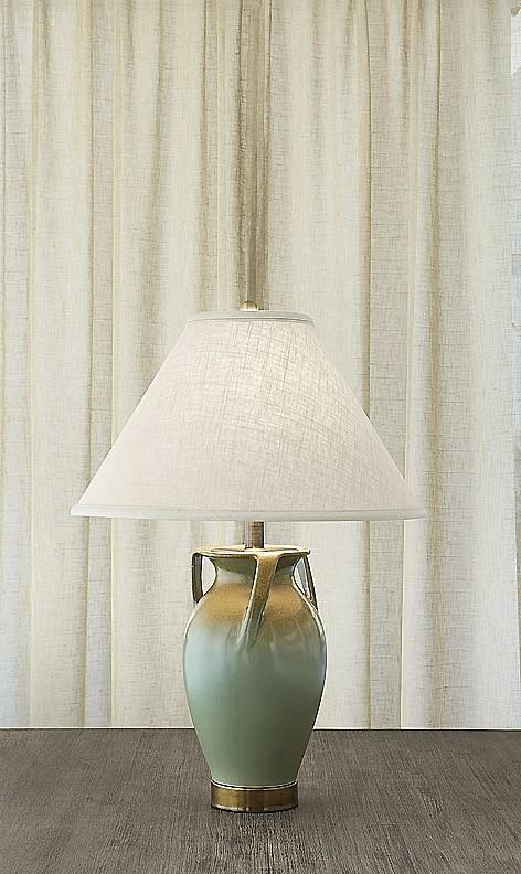 $975.00 Ewer Lamp Gold & Verdigris