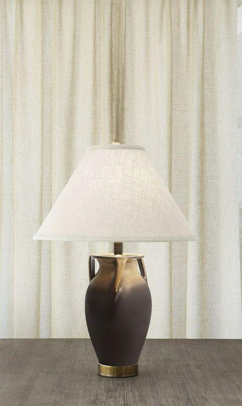 $975.00 Ewer Lamp Gold & Brown