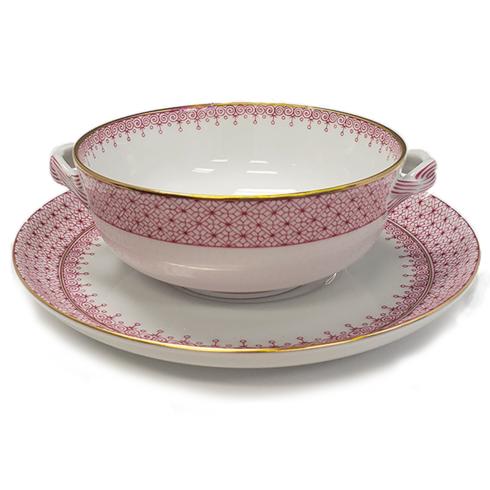 $125.00 Pink Lace Cream Soup