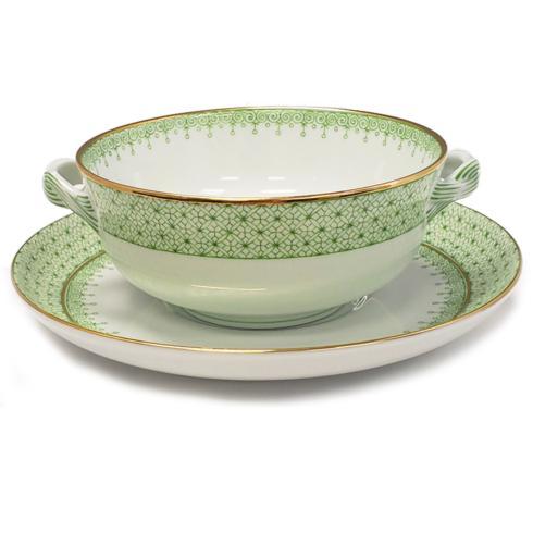 $125.00 Apple Green Lace Cream Soup