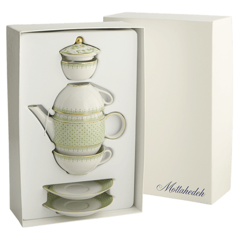 $340.00 Tea For Two Boxed Set, Apple Green